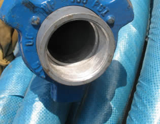 The detailed structure of rotary drilling hose end.